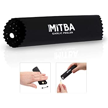 Garlic Peeler by MiTBA It's Easy and Quick to Peel Garlic Cloves with the Best Silicone Tube Roller. Peeling Without Smell From Hands! Innovative Design with Inner Bulges.