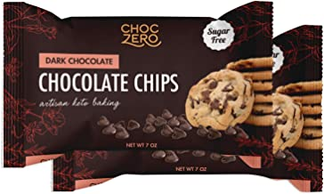 ChocZero's Dark Chocolate Chips - Sugar Free, Low Carb, Keto Friendly (2Bag, 14oz)
