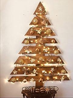 árbol de navidad, de madera, decoración navideña, color envejecido, 110cm