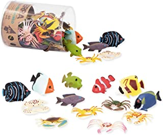 Terra by Battat – Tropical Fish World – Assorted Miniature Sea Animals, Toy Fish, & Tropical Fish Toys. Ideal Cake Toppers...