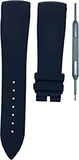 24mm Black Rubber Watch Band Strap F. Muller Casablanca | Free Spring Bar Tool