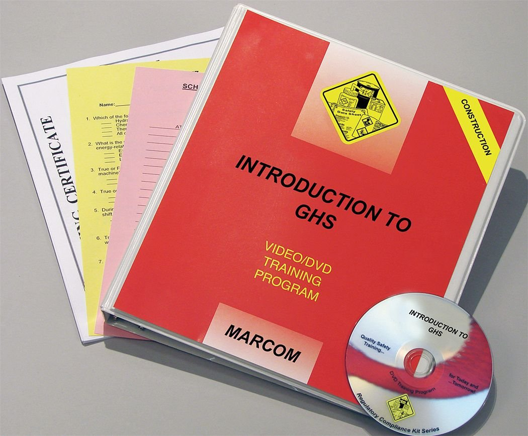 Marcom Group V0001599ST Intro to 2021new shipping free DVD Max 63% OFF Construction GHS Training