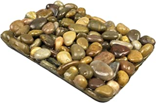 OYAMIHUI Stone Pebbles Soap Dish for Shower and Bathroom, Natural Soap Holder to Keep The Soap Dry