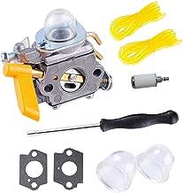 26cc Carburetor for Ryobi Homelite Trimmer Weed Eater 25cc Fuel Line Primer Bulb Adjusting Tool Kit 30cc String Trimmer Backpack Blower Weed Eater Carb C1U-H60