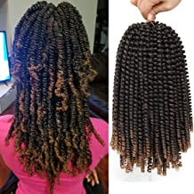 12 inch Spring Twist Crochet Braids Bomb Twist Crochet Hair Beyond Beauty Ombre Colors Synthetic Fluffy Hair Extension 3 Packs (12 Inch, M1B 27)