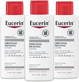 Eucerin Original Healing Cream - Fragrance Free, Rich Lotion for Extremely Dry Skin - 8.4 fl. oz. Bottle (Pack of 3)