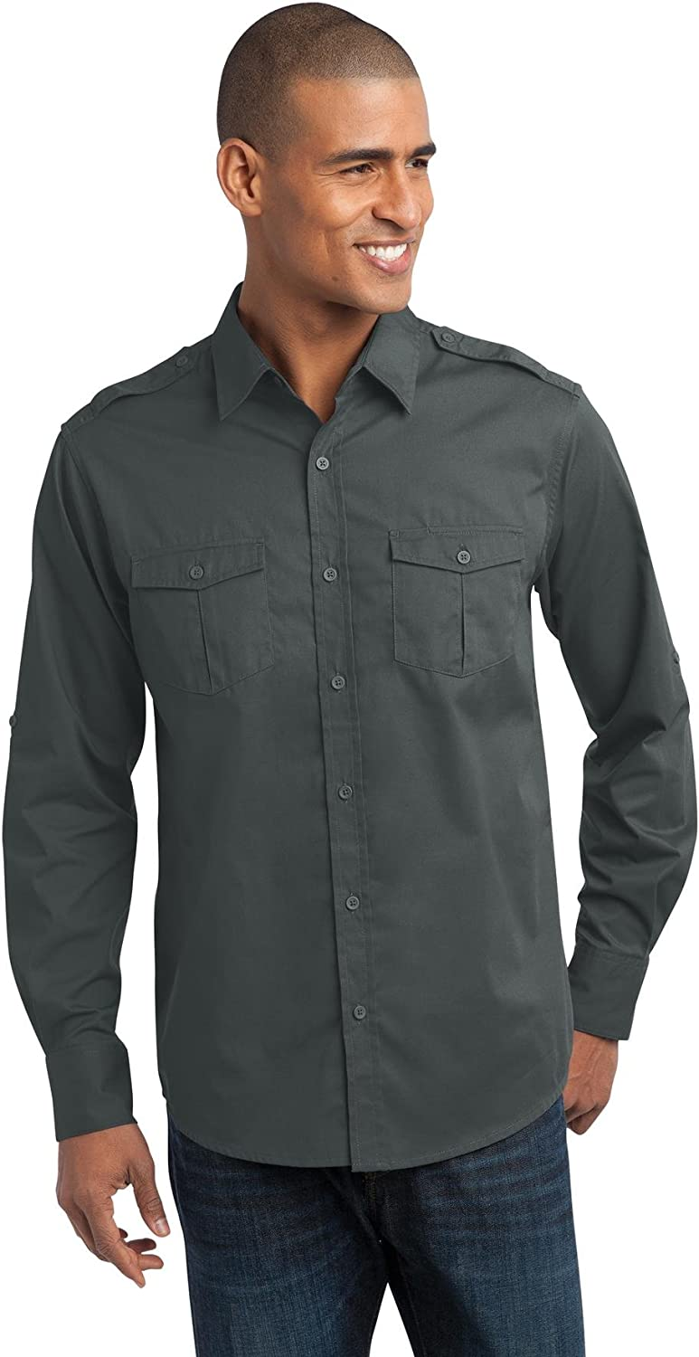 Port Authority Stain-Release Roll Sleeve Twill Shirt. S649