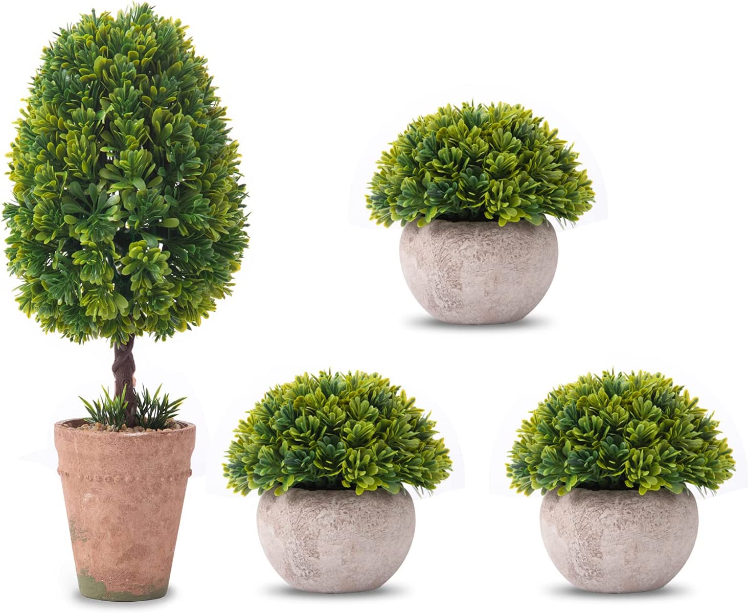 Mizii Spring new work Small 2021 autumn and winter new Artificial Boxwood Greenery Fake Potted Topiary Tree