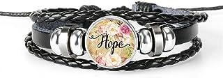 Bracelet Dream Love Hope Believe Art Glass Dome Charm Bracelet Hymn Jewelry Gift Annacboy (Color : 7)