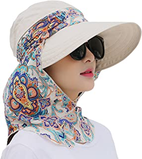 Lanzom Women Lady Wide Brim Cap Visor Hats UV Protection Summer Sun Hats