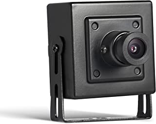 Indoor Security Mini IP Camera POE - Revotech - H.265 HD 3MP 2MP 1080P 1296P Metal Camera Motion Detection ONVIF P2P CCTV Cam Surveillance System (I706-P Black)