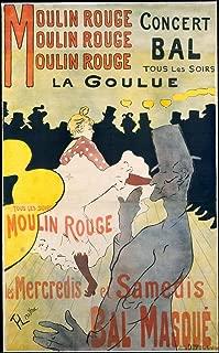 Historic Pictoric Fine Art Print - Henri de Toulouse-Lautrec - Moulin Rouge: La Goulue - Vintage Wall Art - 11in x 14in