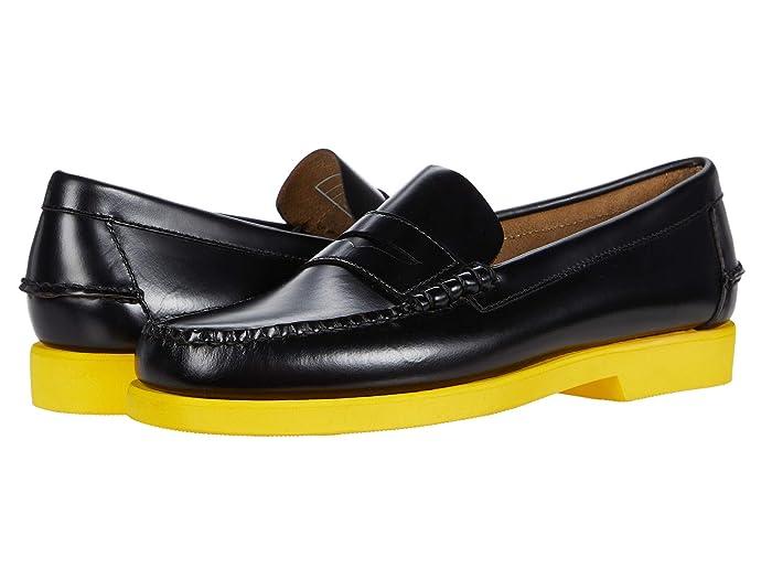 Mens Vintage Shoes, Boots | Retro Shoes & Boots Sebago Dan Polaris RGB BlackYellow Mens Shoes $127.99 AT vintagedancer.com