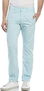 Hugo Boss Men's 'Leeman-W' Light Green Striped Slim Fit Casual Pants 34R