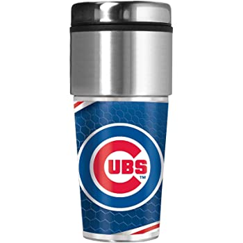 Great American Products Boston Red Sox 16 oz Travel Tumbler with Metallic Honeycomb Design Wrap