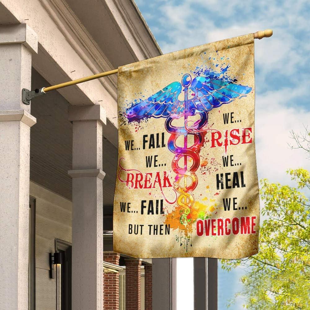 Flags-Nurse. We Rise お歳暮 Heal. THN2031F Flag House Overcome 安い