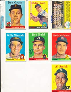 bob Buhl Braves #176 1958 Topps Signed card (only one listed) bin58