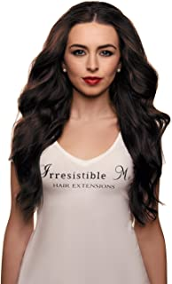 IRRESISTIBLE ME – Clip in Hair Extensions Chocolate Brown (#2) - 100% Natural Remy (Remi) Human Real Hair – Straight Silky Touch Clips Pieces Full Head Set - Different Weight (Grams) and Length (Inch)