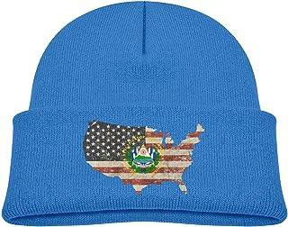 ADGoods Kids Children El Salvador Coat of Arms Beanie Hat Knitted Beanie Knit Beanie For Boys Girls Gorra de béisbol para ...
