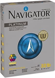 Navigator Platinum Paper, 99 Brightness, 32 lb, 8-1/2 x 11 Inches, White, 250/Pack (SNANPL1132PK)