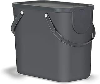PP Rotho Eco Twist Cubo de Basura de 50 l Pl/ástico Azul 40,1 x 29,8 x 60,2 cm 50 Liter