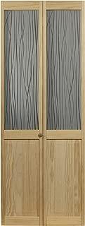 Pinecroft 845730 Reeds Half Glass Bifold Interior Wood Door, 36