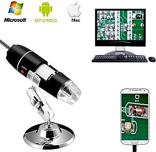 میکروسکوپ دیجیتال USB 2.0، دوربین کوچک با OTG آداپتور و پایه فلزی، سازگار با Mac Window 7 8 10 آندروید لینوکس