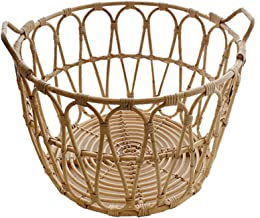 Laundry Basket, Laundry Hampers for Laundry Room, Hand-Woven Rattan Decorative Baskets, Clothes Hamper Storage for Bedroom...