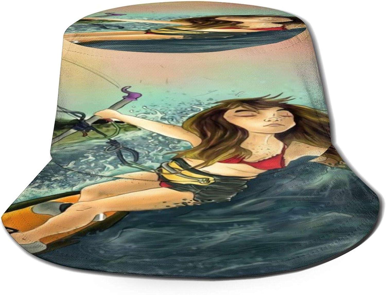 Kitesurfing Surfing Large discharge sale gift Summer Bucket Pack Unisex Hat Sun