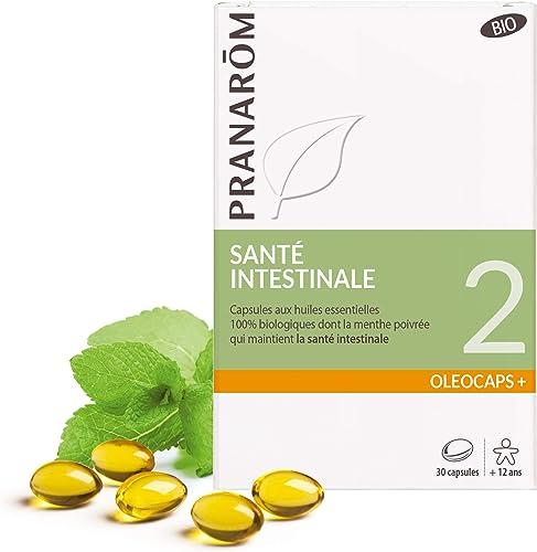 Pranarôm | Oléocaps+ 2 |Santé Intestinale Bio|Aux Huiles Essentielles Pures et Naturelles|30 Capsules