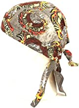 SK Hat shop Fitted Bandana Du Rag Wrap Headwrap Ride The Wind Gray