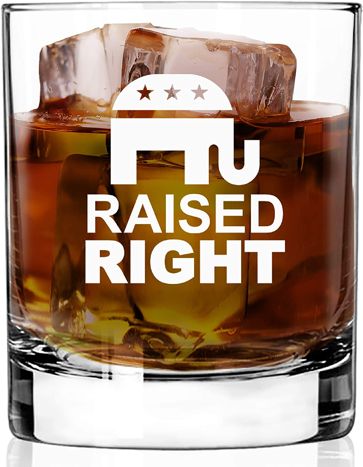 WHISKEY GLASS RAISED - RIGHT Super sale favorite period limited RESTAURANT CHIP QUALITY HEAVY