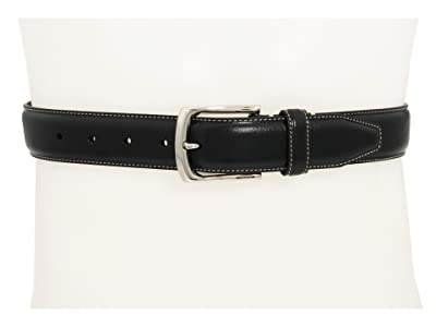 Johnston & Murphy Topstitched Belt (Black) Men