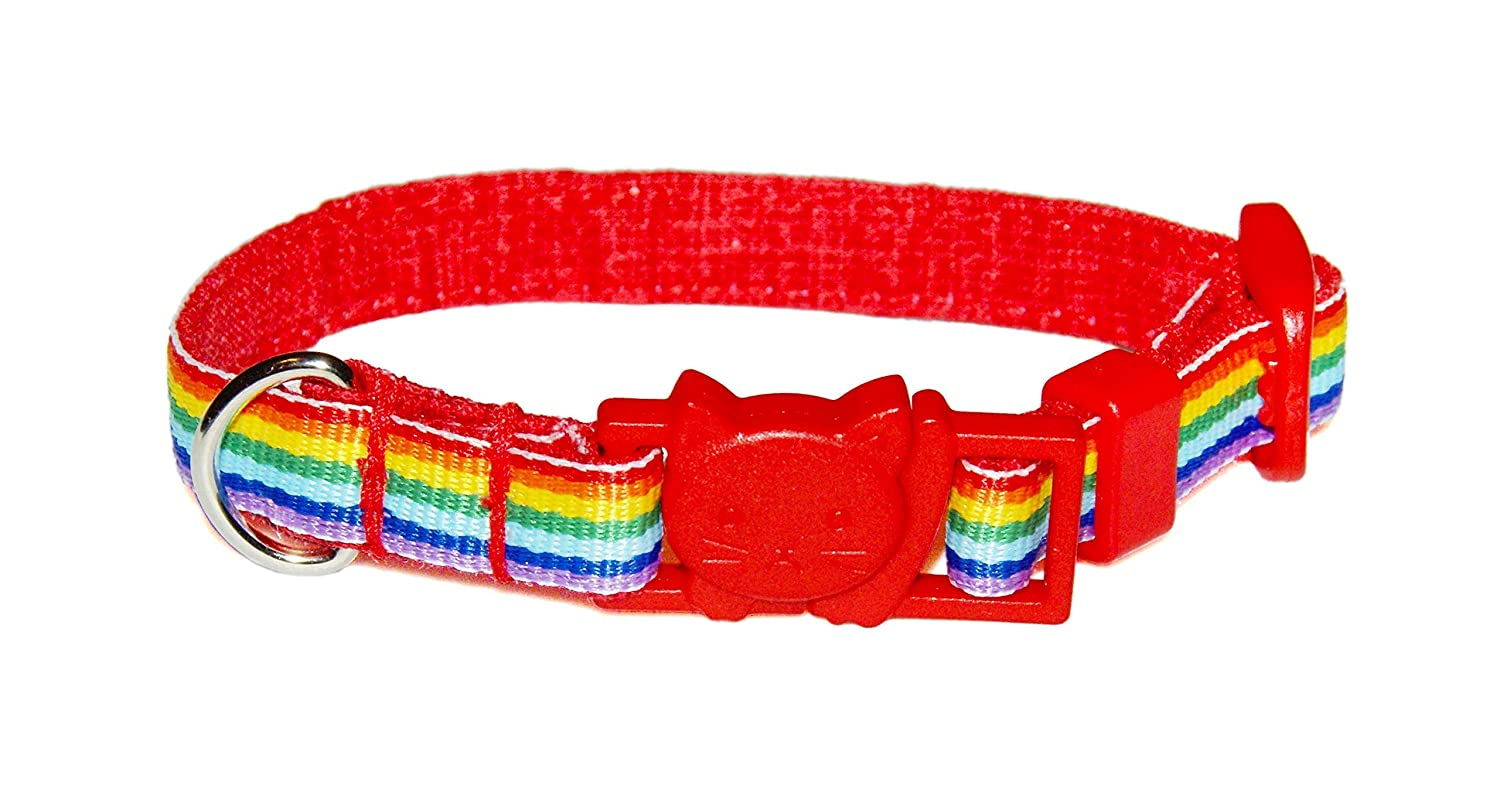 Ranking TOP14 Rainbow Cat Collar - Colorful Ribbon 2 Inch low-pricing Wide Stripe 8 3