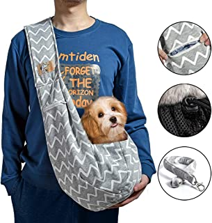 iBrowith Reversible Dog Carrier Sling Hands Free Backpack for 5-12 lbs Small Pet Travel Outdoor Riding Adjustable Shoulder...