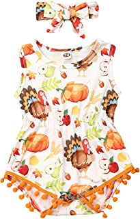Baby Girl Floral Romper Newborn Infant Ruffle Bodysuit One-Piece Jumpsuit Fall Outfits Clothes