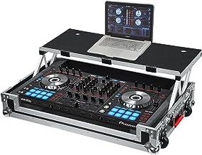 Gator Cases G-TOUR Series DJ Controller Road Case with Sliding Laptop Platform - Custom Fit for Pioneer DDJ-SX and DDJ-RX;...