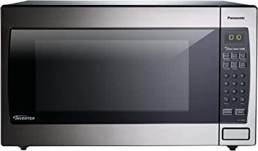 Panasonic Microwave Oven NN-SN966S Stainless Steel Countertop/Built-In with Inverter Technology and Genius Sensor, 2.2 Cu. Ft, 1250W (Renewed)