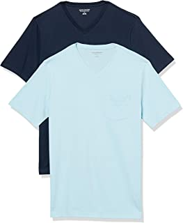 Amazon Essentials Men's 2-Pack Slim-Fit Short-Sleeve V-Neck Pocket T-Shirt