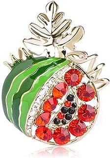 FOPUYTQABG Broche de Moda Broche de Col Casual Broche de Verdura Pin de Mujer Niños Mochila Insignia Fiesta Accesorios de ...
