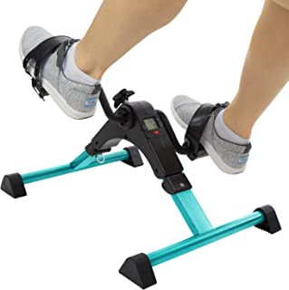 Vive Desk Cycle - Foot Pedal Exerciser - Foldable Portable Foot, Hand, Arm, Leg Exercise Pedaling Machine - Folding Mini Stationary Bike Pedaler, Fitness Rehab Gym Equipment for Seniors, Elderly, PT