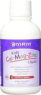 MRM Kids Cal-Mag-Zinc Liquid Metabolic Response Modifiers, Tropical Berry, 16 Fluid Ounce