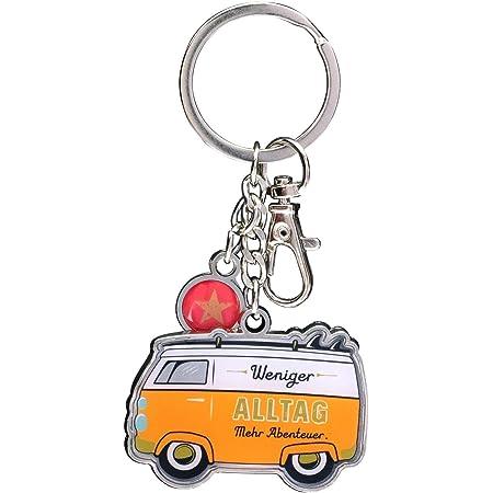 H Ppy Life 46423 Schlüsselanhänger Bus Anhänger Orange Länge 9 Cm 1 Anhänger Küche Haushalt