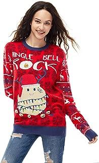 Unisex Women's Christmas Ugly Sweater Fair Isle Novelty Funny Knitted Pullover Sweatshirt Reindeer Santa