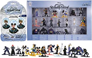 Jada Dome & Mini Figure Exclusive Series Kingdom Hearts Disney Nano Action 20 Pack Mickey Sora Riku Namine Pete Donald Dusk Goofy + Blind Bag Figural Domez Collectible Pack Game Gear Bundle