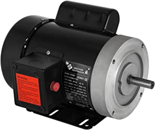 Mophorn 0.75 Hp Electric Motor with Flange Rated Speed 1725 RPM Single Phase Motor AC 115V 230V Air Compressor Motor Suit for Agricultural Machinery and General Equipment