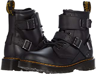 Dr. Martens Kid's Collection 1460 Buckle (Little Kid/Big Kid) Black Romario/Smoother Finish 10 UK (US 11 Little Kid) M