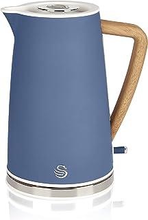 Swan Nordic Bouilloire électrique ultra rapide sans fil Design moderne 1,7 l 2200 W Poignée effet bois Arrêt automatique B...