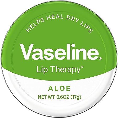 Vaseline Therapy Lip Balm, Aloe Vera 0.6 oz (Pack of 3)