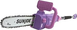 Sun Joe SWJ807E-PRP 10 inch 8.0 Amp Electric Convertible Pole Chain Saw, Purple